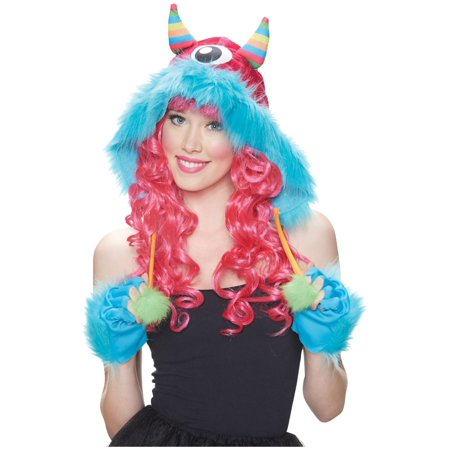 Womens Monster Costumes (Rainbow Monster Woman Hood Costume)