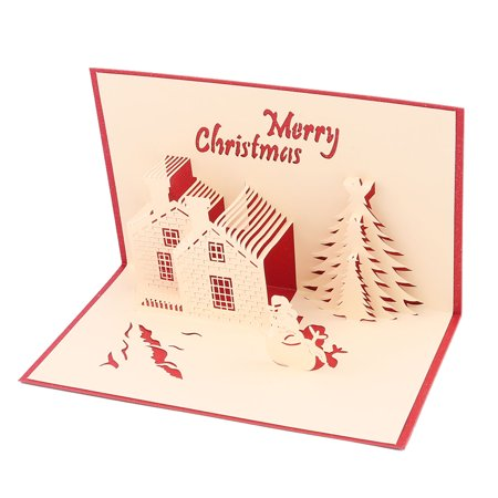 Holiday Party Paper 3D Castle Pattern Design Craft Decoration Gift Greeting Card - Castle Decorations