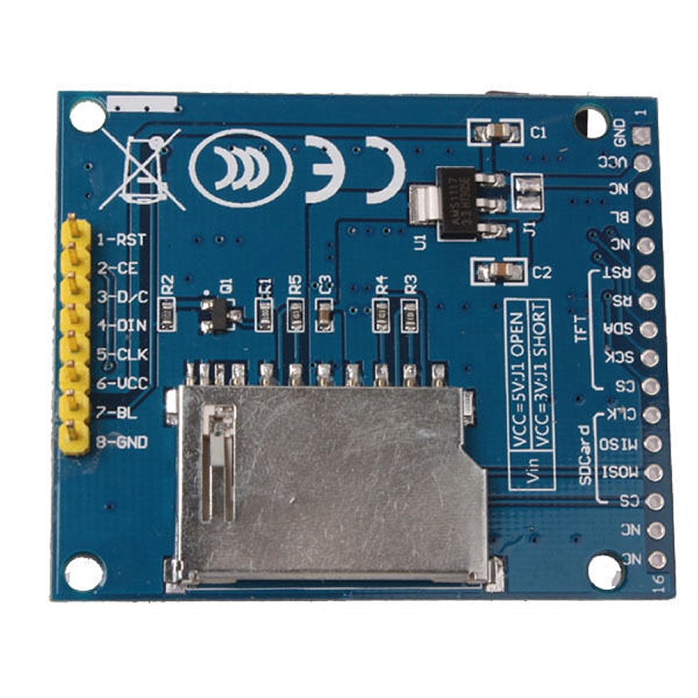 """PCB Adapter Power IC SD Socket 128X160 SPI TFT LCD 1.8/"""" Serial Module Display"""