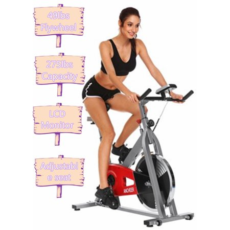 Hascon Exercise Bike Health Fitness Belt Drive Indoor Exercise Cycling Bike Belt Resistance Healthy Life Home Office -