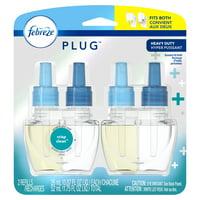 Febreze Plug Air Freshener Scented Oil Refill, Crisp Clean, 2 count