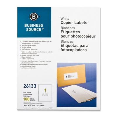Business Source Copier Full Sheet Label BSN26133