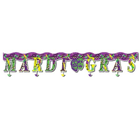 MARDI GRAS BANNER, SOLD BY 25 PIECES for $<!---->
