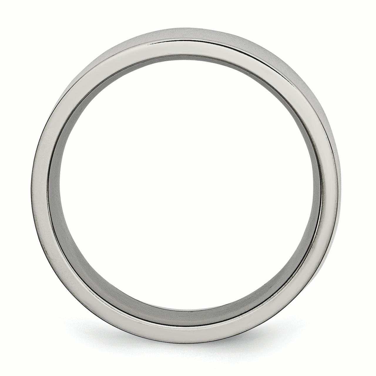 Titanium Flat 8mm Wedding Ring Band Size 9.50 Classic Fashion Jewelry Gifts For Women For Her - image 6 of 7
