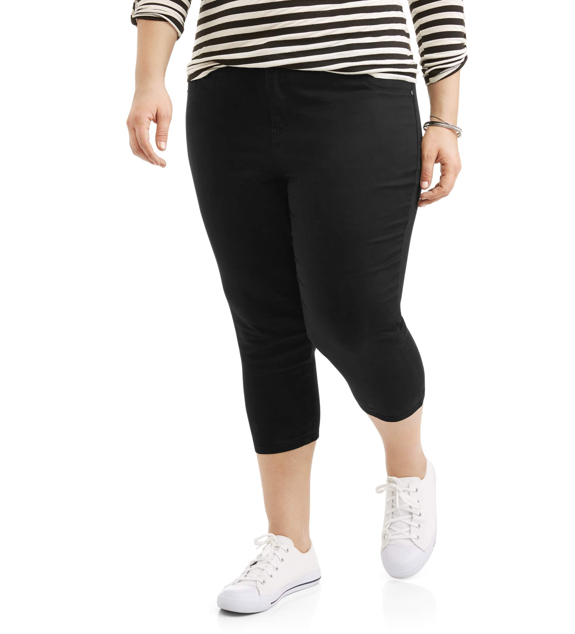 Image of A3 Women's Plus Brushed Stretch Capri Pants
