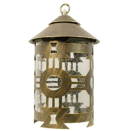 eTopLighting Classico Collection Oil Rubbed Bronze Finish Outdoor Pendant Hanging Lantern Light w/ Seeded Glass  , WMLS2276