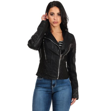 Fake leather jackets for juniors