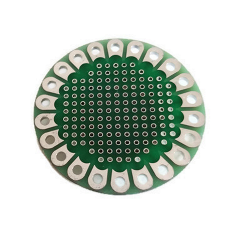 AMX3d LilyPad Arduino Prototype Board ProtoBoard - Round Prototype Board for LilyPad, Arduino and all DIY Electronics -