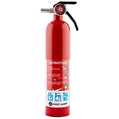 First Alert Rechargable Standard Home Fire Extinguisher, Red (3 Pack)