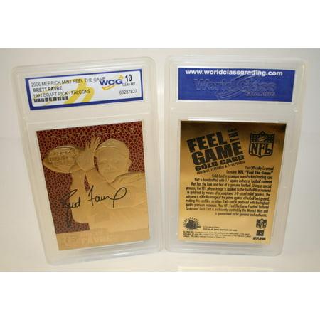 BRETT FAVRE 1991 Draft Pick FEEL THE GAME Gold Card Rookie - Graded GEM MINT 10 ()
