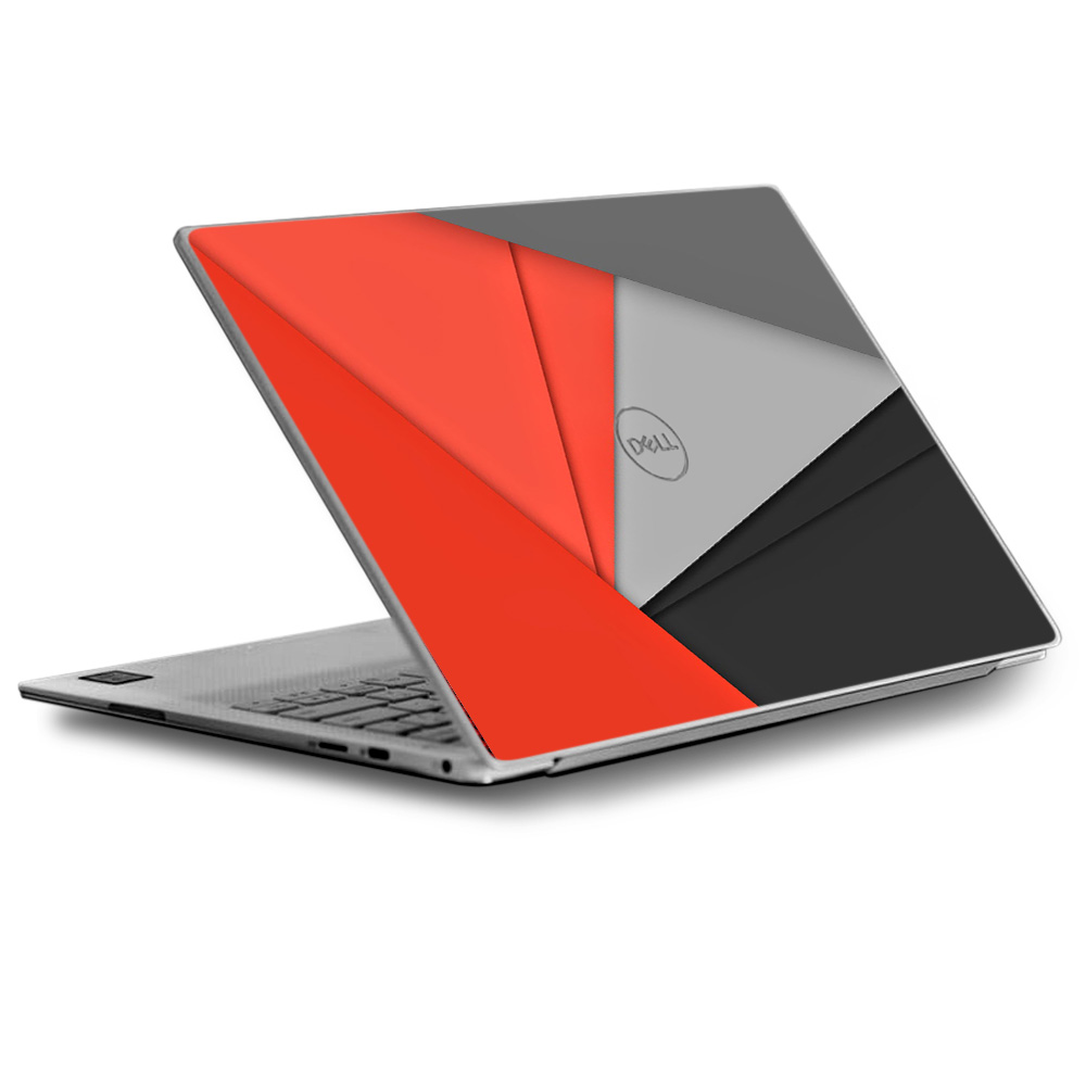 Skins Decals for Dell XPS 13 Laptop Vinyl Wrap / Orange and Grey