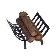 1:12 Dollhouse Furniture Miniature Metal Firewood Rack Kids Pretend Play Toy