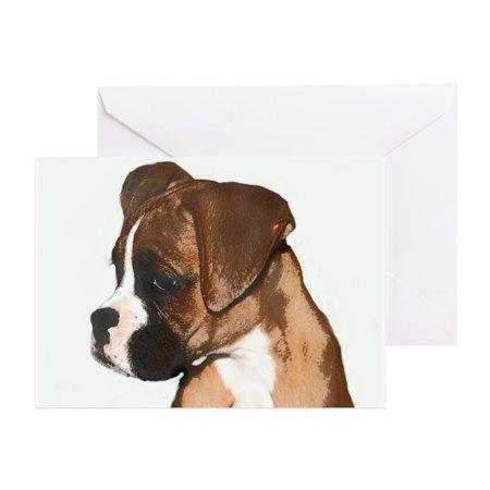CafePress - Boxer Dog - Greeting Card, Blank Inside Glossy