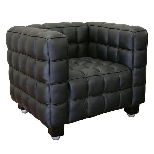 Baxton Studio Arriga Black Leather Modern Chair