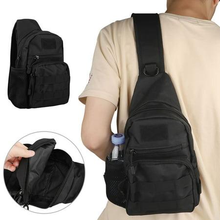 EEEKit Sling Chest Pack Men's Bag Molle Daypack Backpack Multipurpose iPad Mini Shoulder Casual Bag Crossbody Duty Gear Travel Backpack Rover Sling Hiking Daypack for Outdoor Camping Trekking Patrol Duty Gear Bag