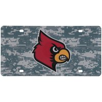 Louisville Cardinals Digi Camo Laser Cut License Plate