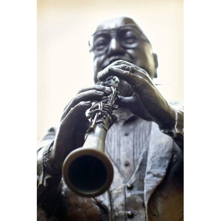 Louisiana, New Orleans, French Quarter, Bourbon Street, Musical Legends Park, Pete Fountain Statue Print Wall Art By John Coletti (New Orleans Halloween French Quarter)