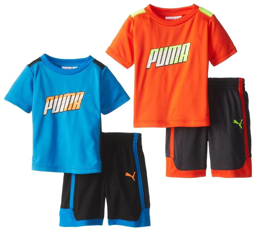 Kids Formstripe Perf Jersey Shirt /& Shorts Set 2 Colo Puma Infants Toddlers