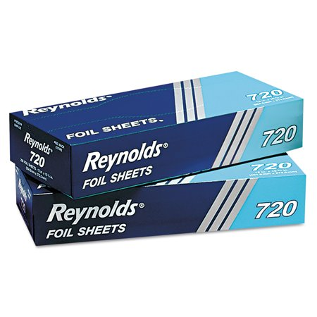 Reynolds Wrap Pop-Up Interfolded Aluminum Foil Sheets, 12 x 10 3/4, Silver, 200/Box ()
