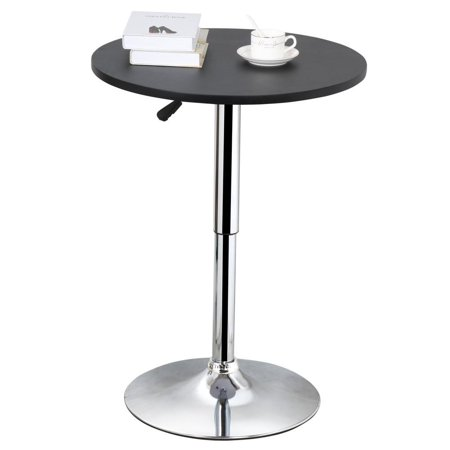 Counter Height Round Pub Table : Yaheetech Adjustable Height Round Pub Bar Table Counter,27.4-35.8 ...