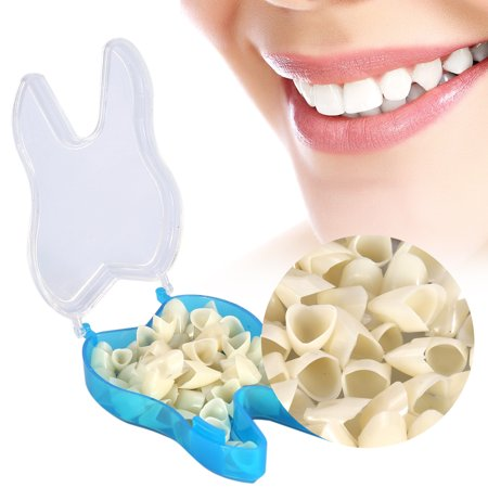 50Pcs Teeth Veneers Resin Anterior Upper Temporary Crown for Dental Oral Care