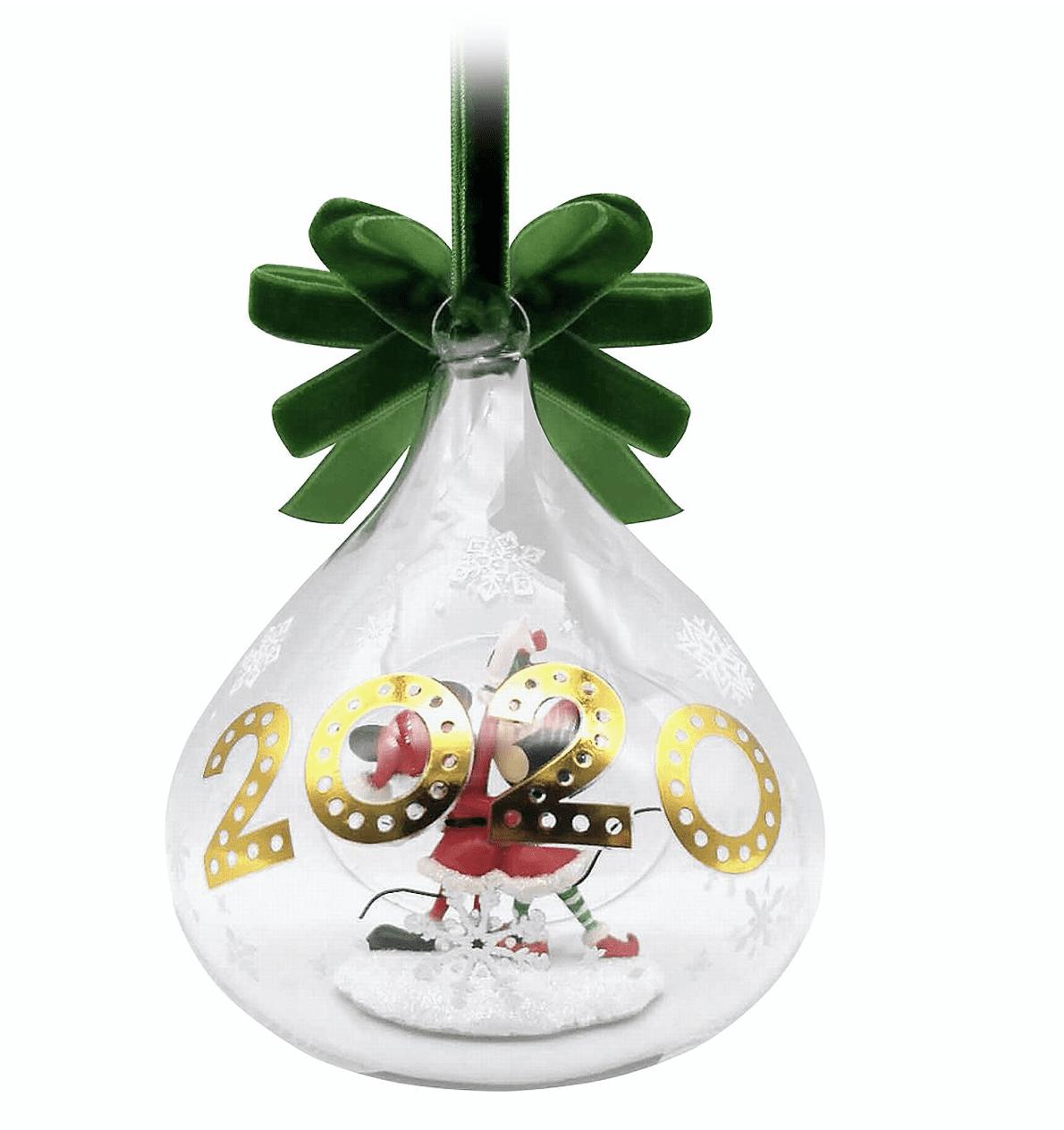 MINNIE /& MICKEY GLASS DROP SKETCHBOOK ORNAMENT 2020 THE DISNEY STORE NIB NEW**
