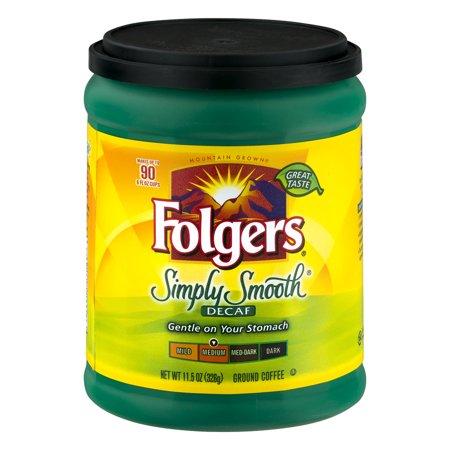 Folgers Simply Smooth Decaf Ground Coffee Medium, 11.5 OZ