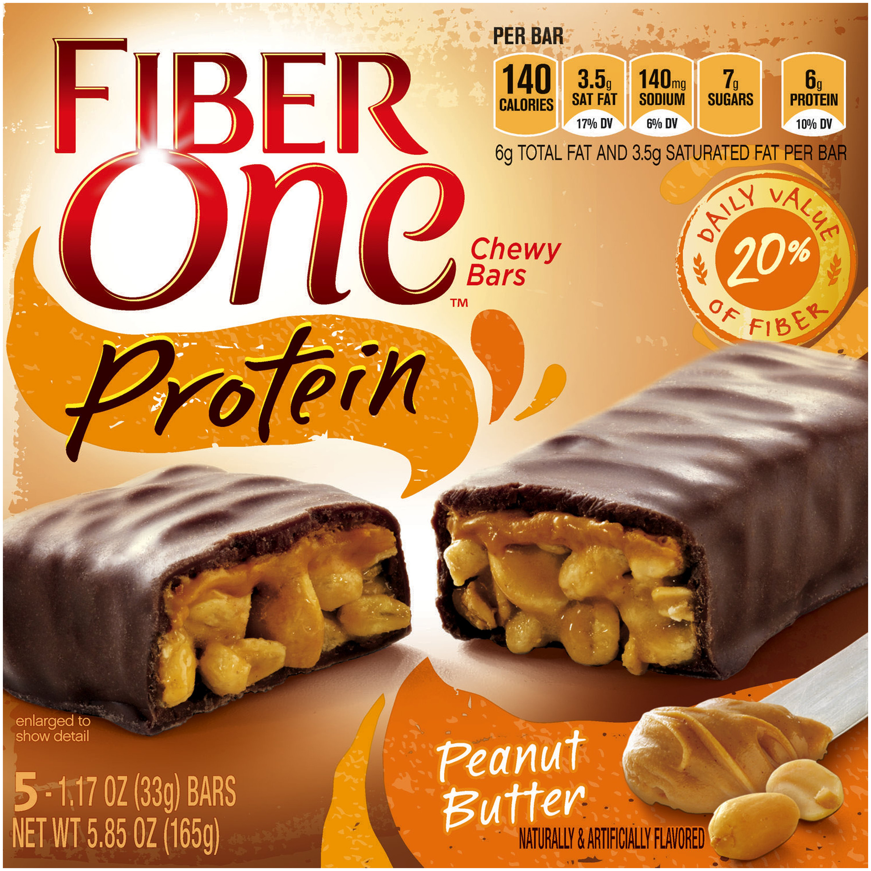 Fiber One�� Protein Peanut Butter Chewy Bars 5 ct Box