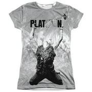 Platoon Grayscale Poster Juniors Sublimation Shirt