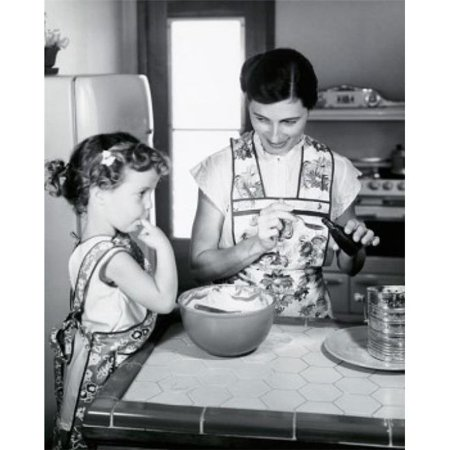 Posterazzi SAL25542778 Mid Adult Woman & Her Daughter Preparing Food in a Kitchen Poster Print - 18 x 24 in. - image 1 of 1