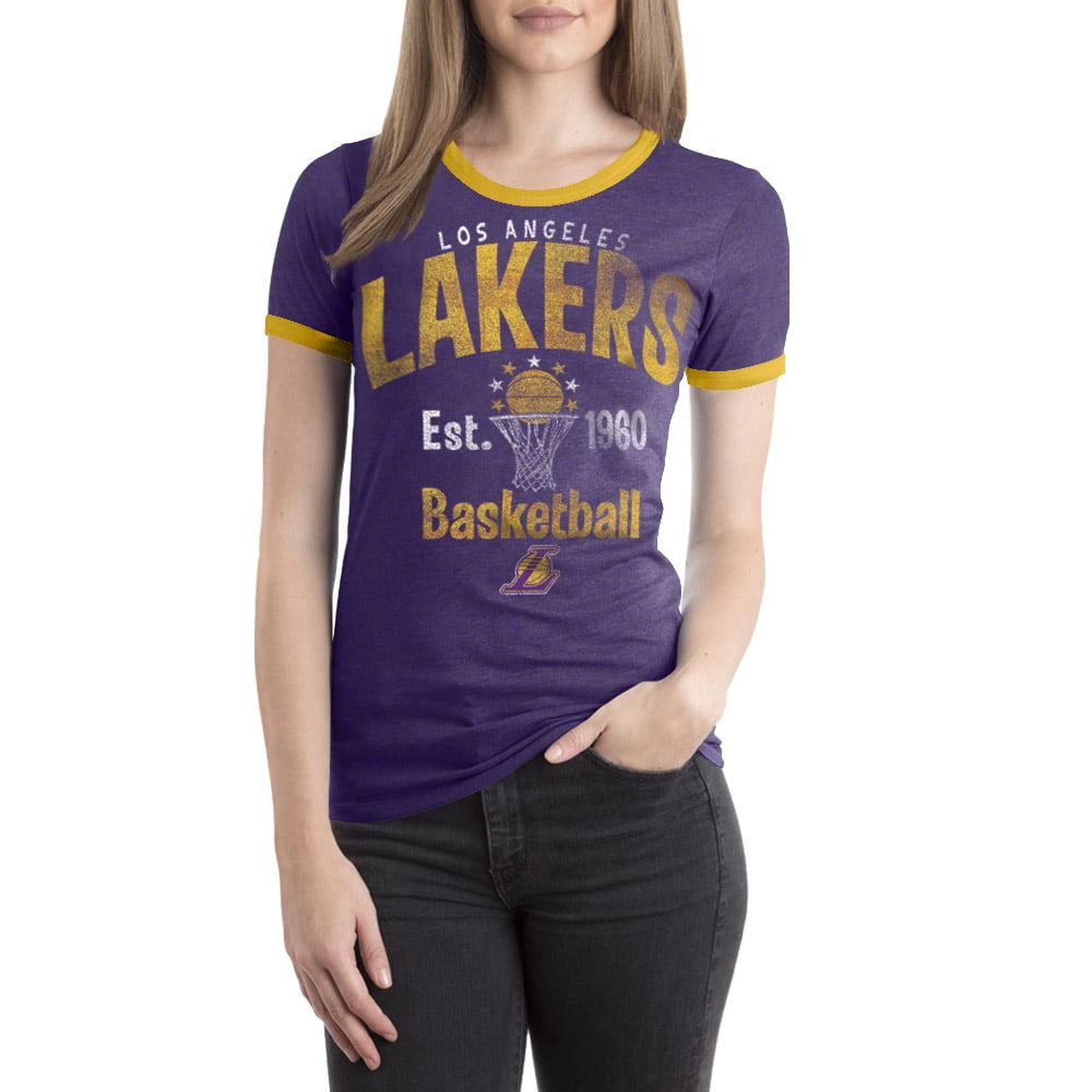 Los Angeles Lakers Women's NBA Short Sleeve Biblend Crew Neck Tee