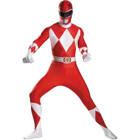 Red Ranger Bodysuit Adult Halloween Costume - Adult Cat Onesie