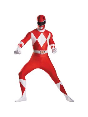 Red Ranger Bodysuit Adult Halloween Costume