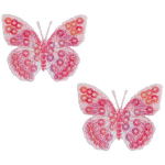 Expo Int'l Iron-On Embroidered Sequin Butterfly Applique Pk/2