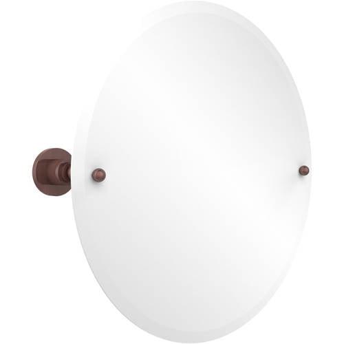 Frameless Round Tilt Mirror with Beveled Edge