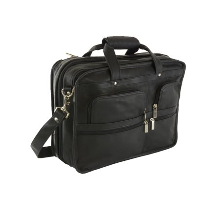 Hammer Anvil Turbo Expandable Laptop Briefcase Colombian Leather Messenger - Top Zip Underarm Leather Briefcase