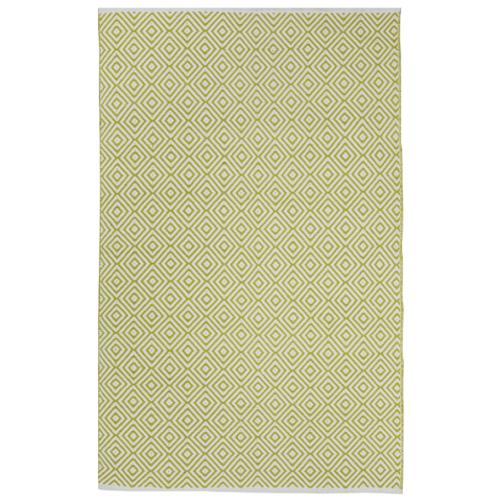 Fab Habitat Indo Hand-woven Veria Green/ Off-white Geometric Area Rug (3' x 5')