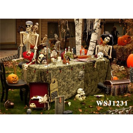 HelloDecor Polyster 7x5ft Halloween Party Photography Backdrop Studio Background Photo Backdrops Studio Props](Halloween Party Background Music)