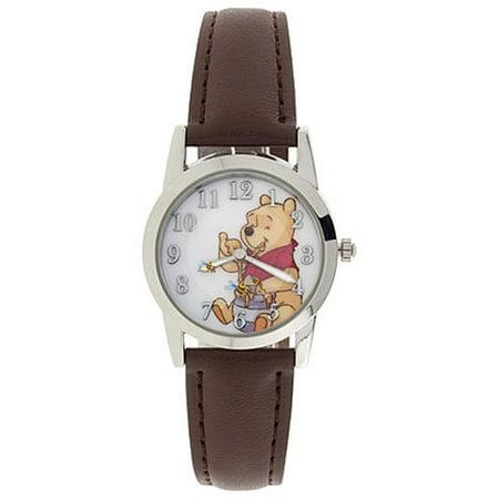 Disney Italian Charm Watch - Disney Winnie the Pooh Analog Watch Enjoying Having Honey Easy To Read