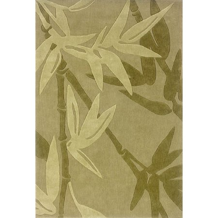 Sphinx Utopia Area Rugs - 84122 Country & Floral Tan Tropical Palms Leaves Bamboo Rug