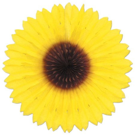 Sunflower Themed Party ((12ct) Sunflower Fan Party)