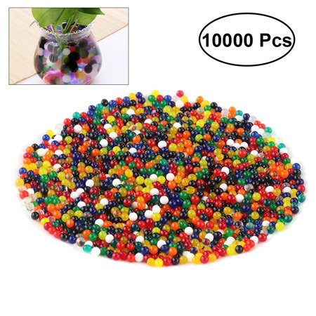 10000pcs/set 9-11mm Water Beads Rainbow Mix Crystal Water Gel Beads Plant Flower Jelly Crystal Soil Water Pearls (Mixed Color)](Decorative Pearls)