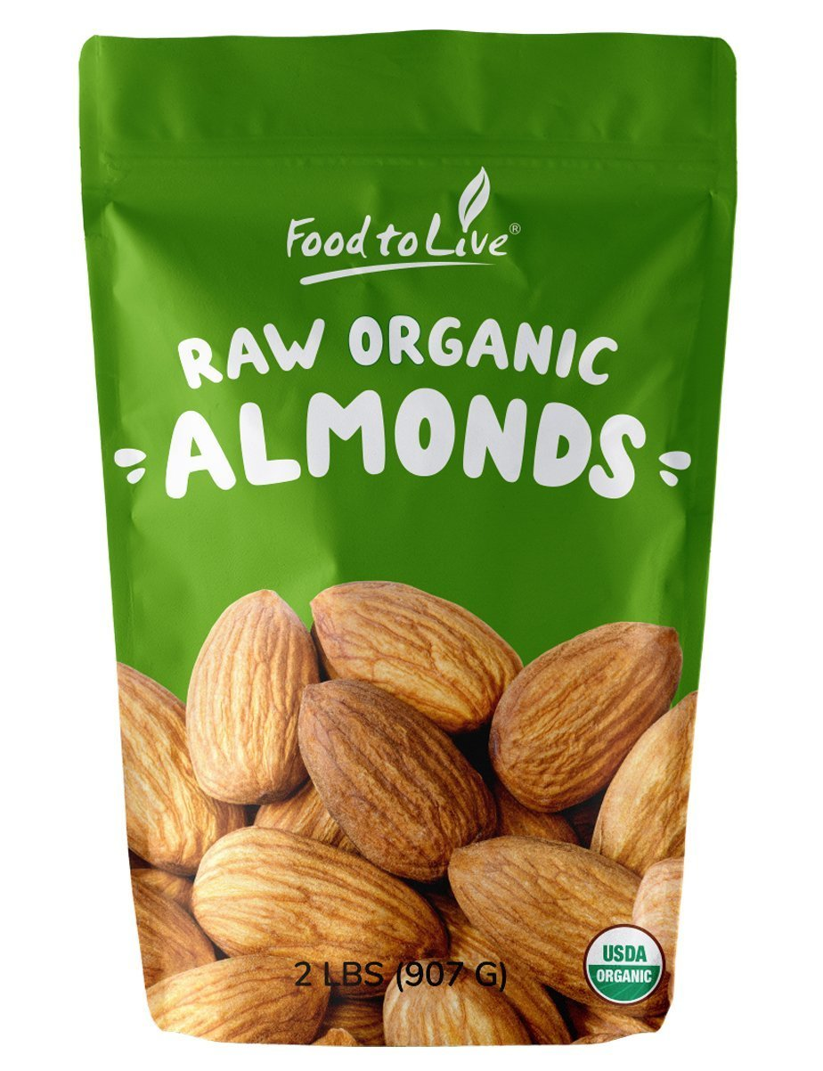 Organic Almonds by Food To Live® (Raw, Unpasteurized) – 2 Pounds