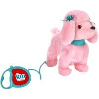 """Kid Connection 9"""" Plush Poodle Walking Pet, Pink"""