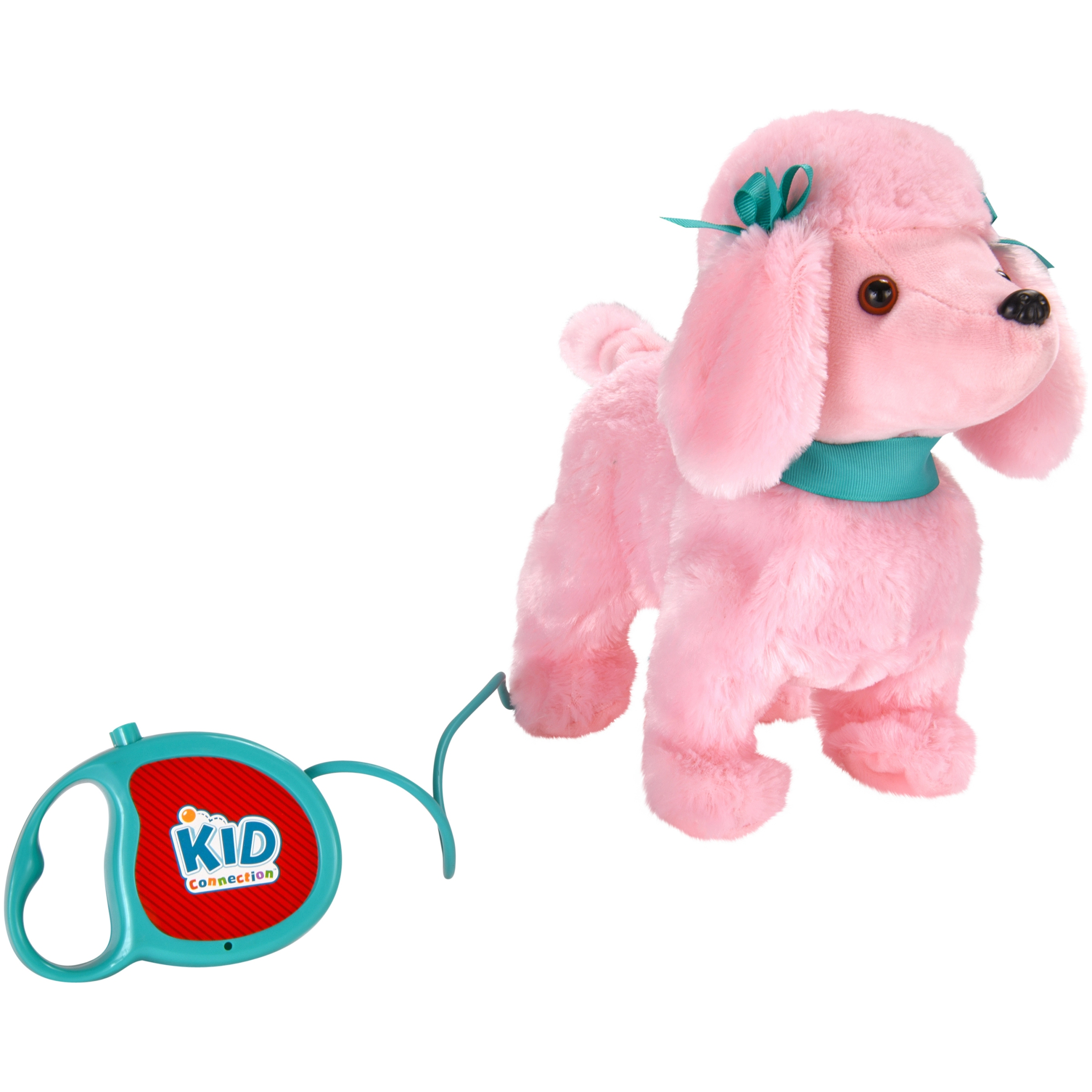 "Kid Connection 9"" Plush Poodle Walking Pet, Pink"