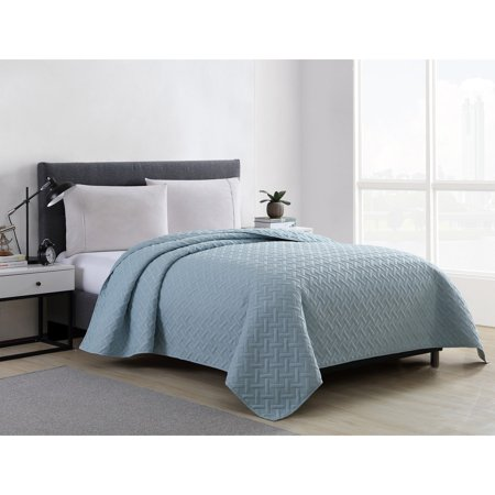 Santorini Quilt (Mainstays Emma Solid Basket-Weave Quilt, Shams Sold Separately, Multiple Colors and Sizes Available )