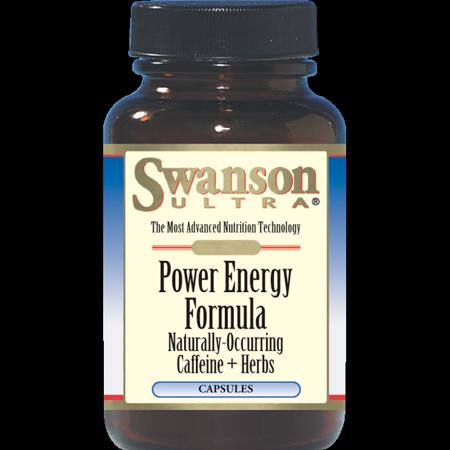 Swanson Power Energy Formula (Caffeine + Herbs) 60 Caps