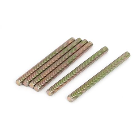 Bronze Threaded Rod - 1.25mm Pitch M8 x 100mm Male Threaded All Thread Rod Bar Stud Bronze Tone 6Pcs