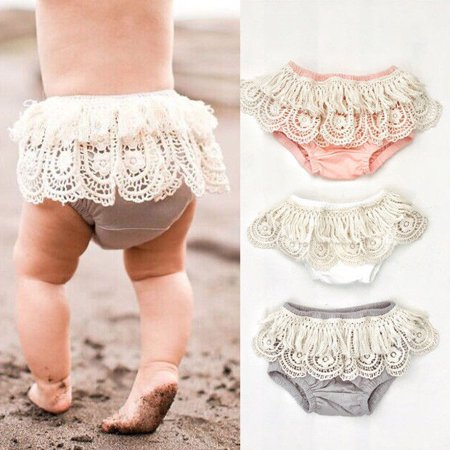 Baby Girl Toddler Ruffle Frilly Pants Nappy Cover Bloomer Tulle Pettiskirt 0-24M