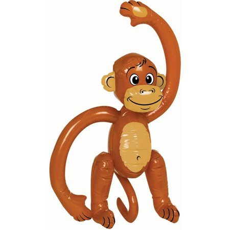 Inflatable Blow Up Monkey Chimp  Tropical  Hawaii Fancy Dress Party Decoration (Hawaiian Theme Decorations)
